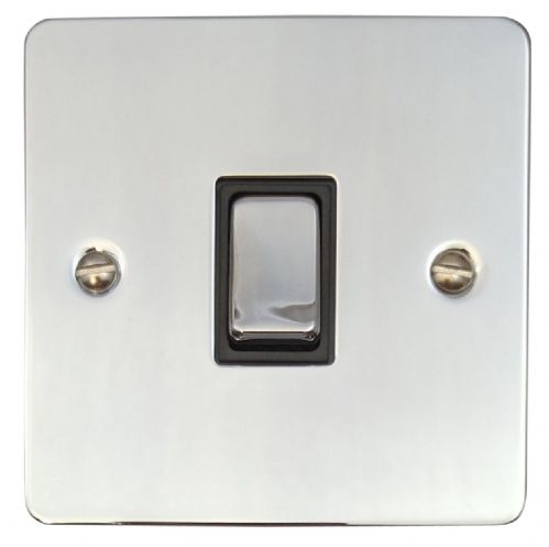 G&H FC301 Flat Plate Polished Chrome 1 Gang 1 or 2 Way Rocker Light Switch
